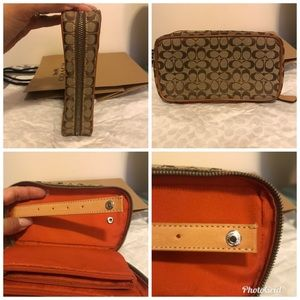 💯% Authentic Coach Brown Makeup Jewlery Case